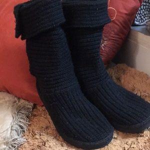 Brand new pair of knit UGG's Australia black cute!